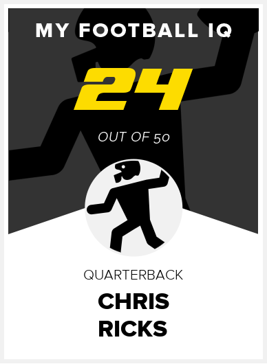 Chris Ricks Wonderlic Score