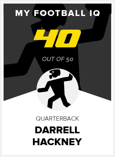 Darrell Hackney Wonderlic Score
