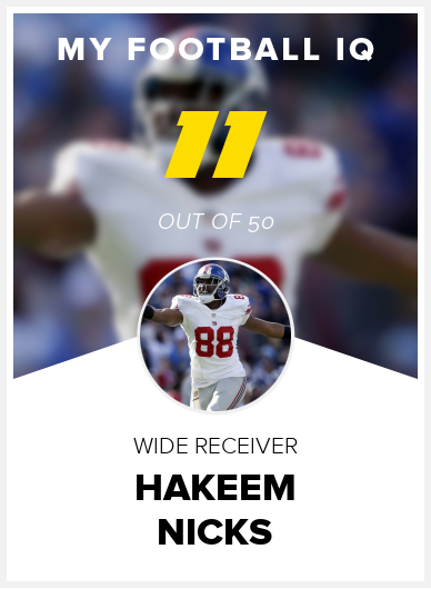 Hakeem Nicks Wonderlic Score