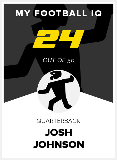 Josh Johnson Wonderlic Score