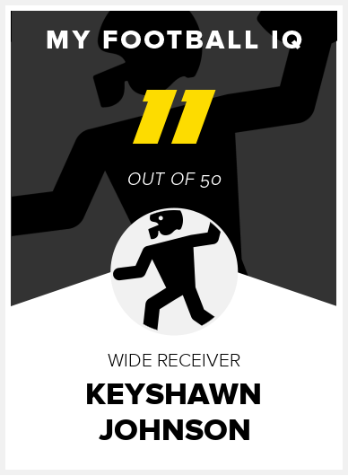 Keyshawn Johnson Wonderlic Score