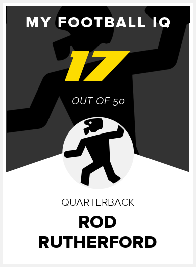 Rod Rutherford Wonderlic Score