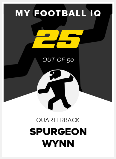 Spurgeon Wynn Wonderlic Score